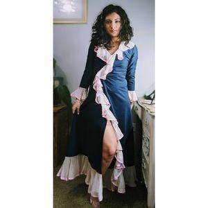 Vintage 60's Dress Coat Robe Peignoir Jacket Dress